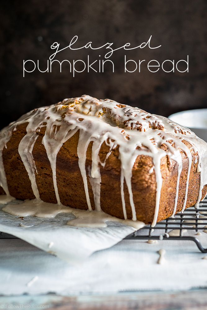 Glazed Pumpkin Bread from Follow the Ruels
