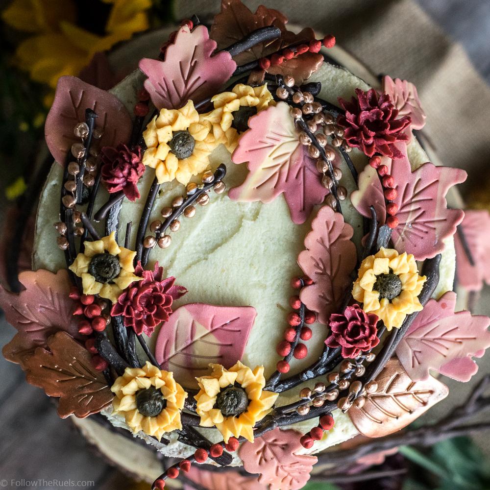 Autumn Wreath Maple Pecan Cake