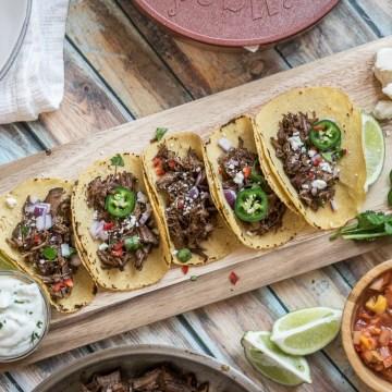 Slow Cooker Barbacoa Tacos