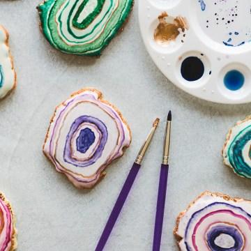 Agate Slice Cookies