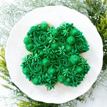 Four-Leaf Clover Cookie Cake
