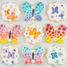 Watercolor Butterfly Cookies
