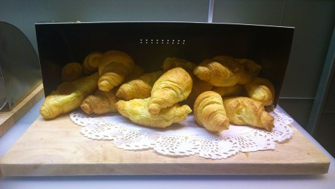 Croissants for breakfast in Park Hotel, Ljubljana