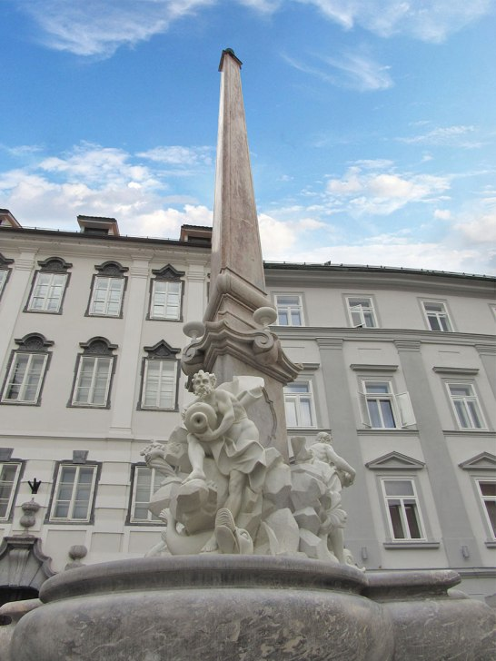 Robba Fountain in Ljubljana
