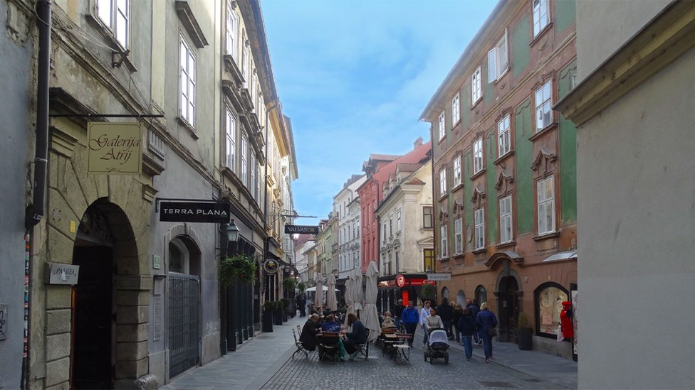 View from Ljubljana's Old Town