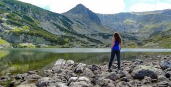 Admiring The View At The 7 Rila Lakes, Bulgaria