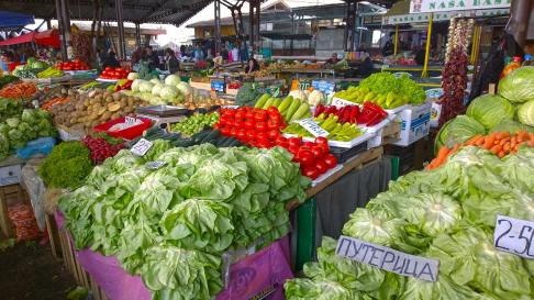 Fresh veggies on the market in Nis, Serbia