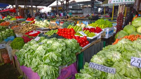 Fresh veggies on the market in Nis, Serbia