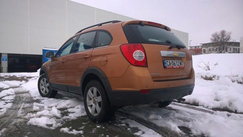 Rent a car Bulgaria, Chevrolet Captiva, from the back