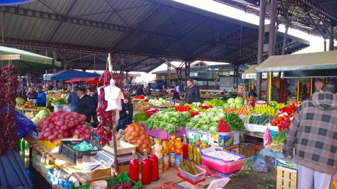 The market in Nis, Serbia