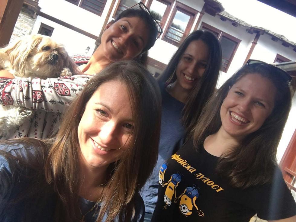 Selfie of Bulgarian travel bloggers