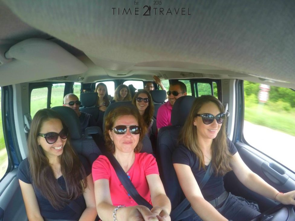 Bulgarian travel bloggers in a rent a car by ValKar