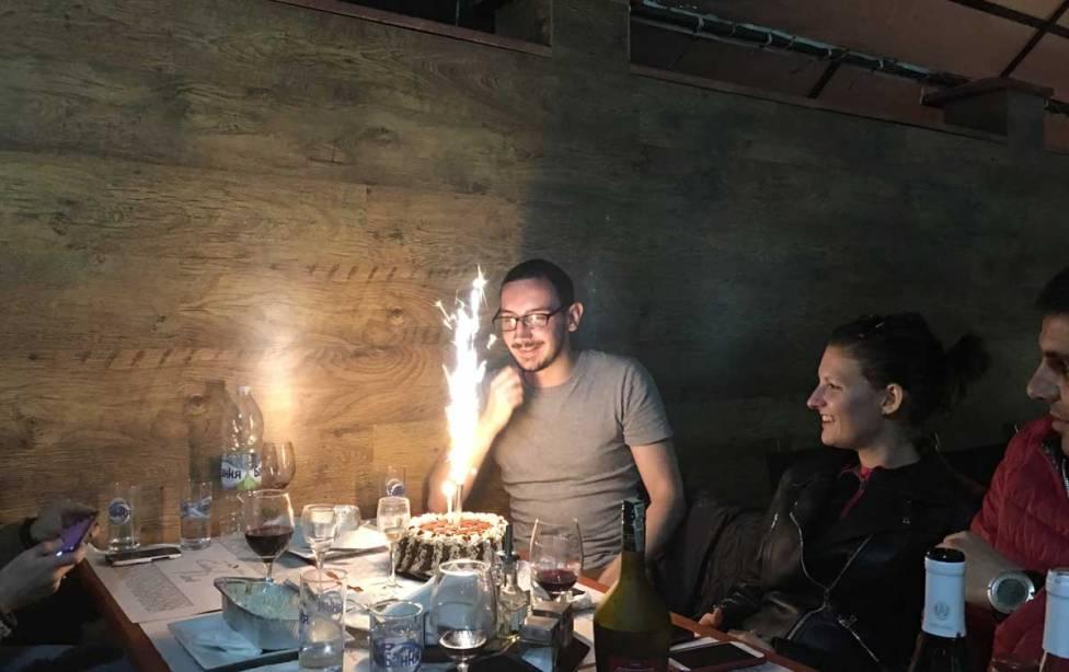 Cake surprise at Central Park Bistro in Kavarna