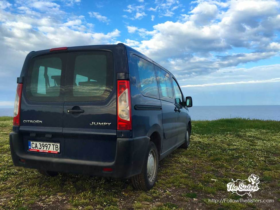 Citroen Jumpy looking at the sea