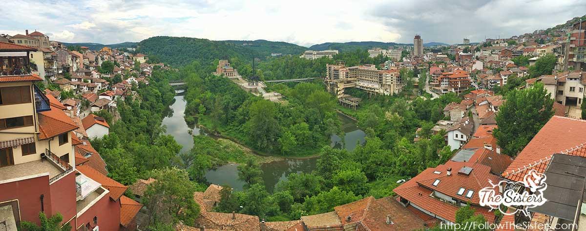 View over Veliko Tarnovo from the panoramic balcony