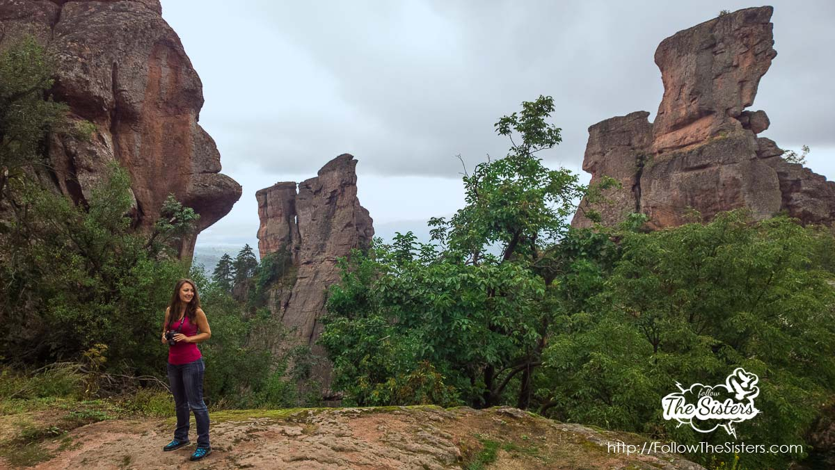 Nina and the Indian chief in Belogradchik