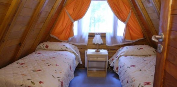Two single beds on the second-froor of Villa Malina, Borovets