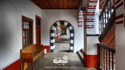 The corridors of Rila Monastery