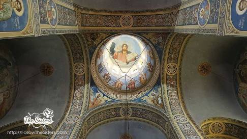 The ceiling inside the Russian church in Shipka
