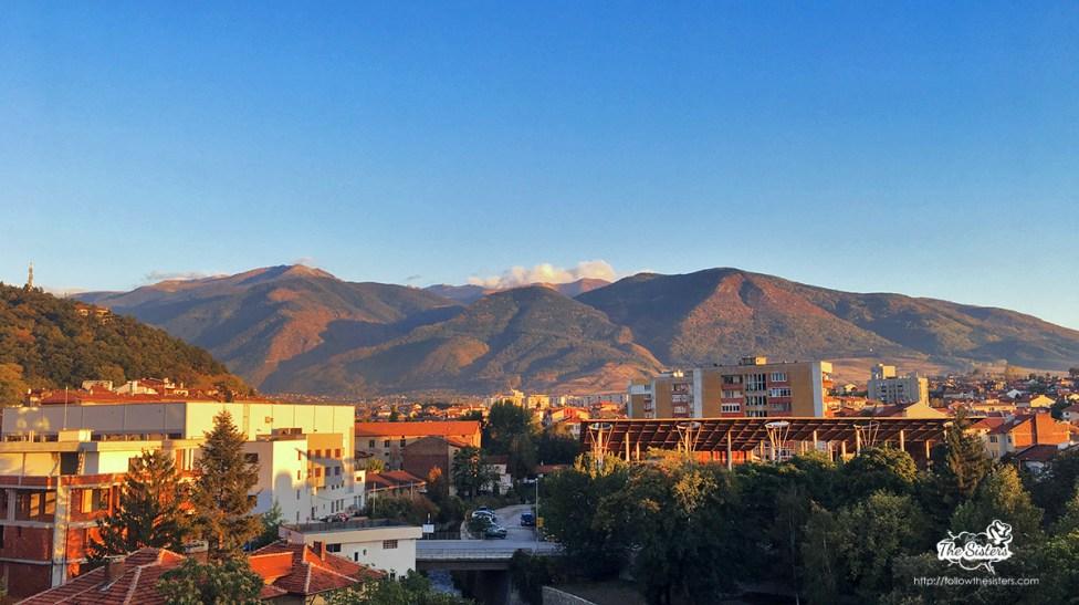 the view from hotel Rila in Dupnitsa