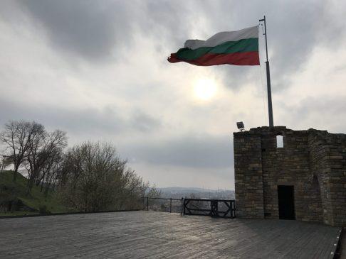 Bulgarian flag from Baldwin's tower