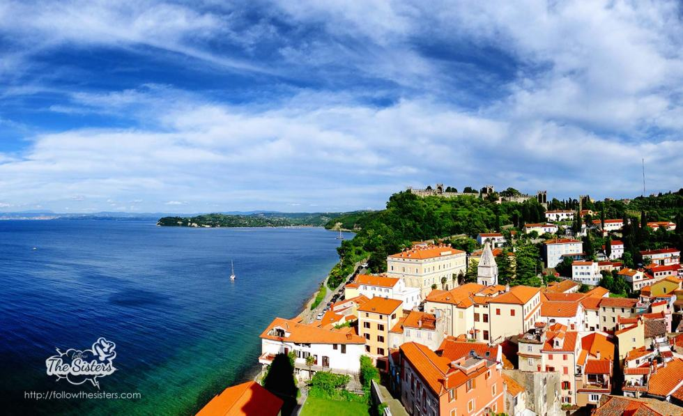View from Piran Clock tower