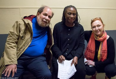 WGBH's Eric Jackson, Gerri Allen, and Scullers' manager, Jan Mullen.