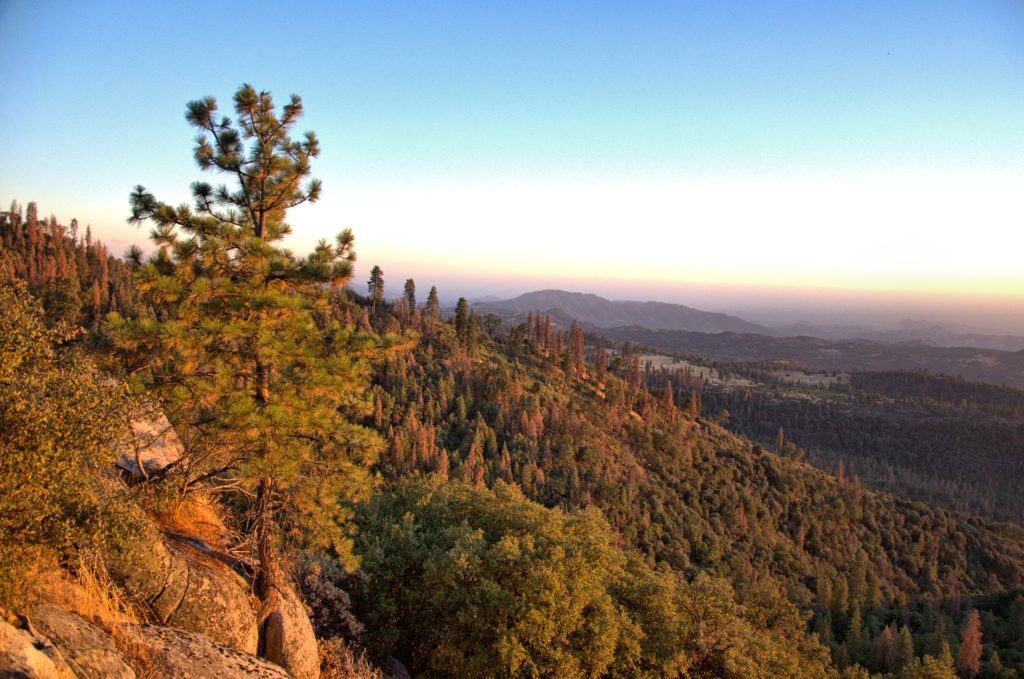 What to see in Sequoia National Park - sunset view