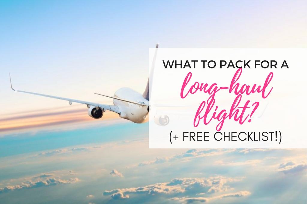 long-haul flight essentials - checklist