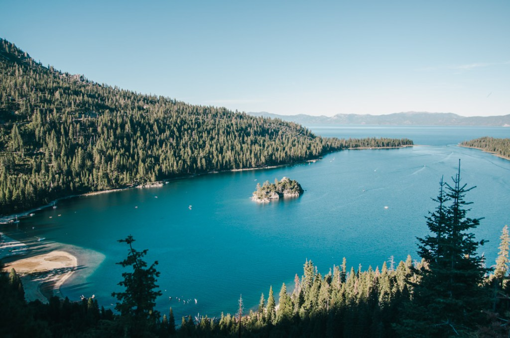 Lake Tahoe from the above
