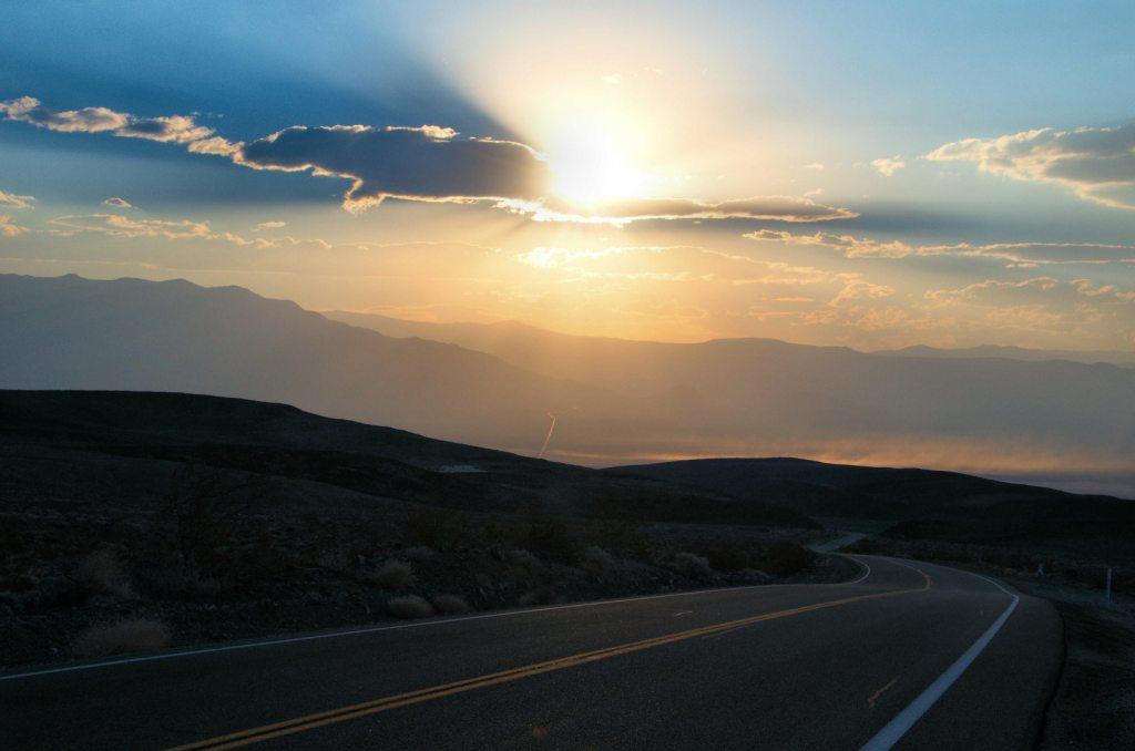 Park Narodowy Doliny Śmierci - zachód słońca
