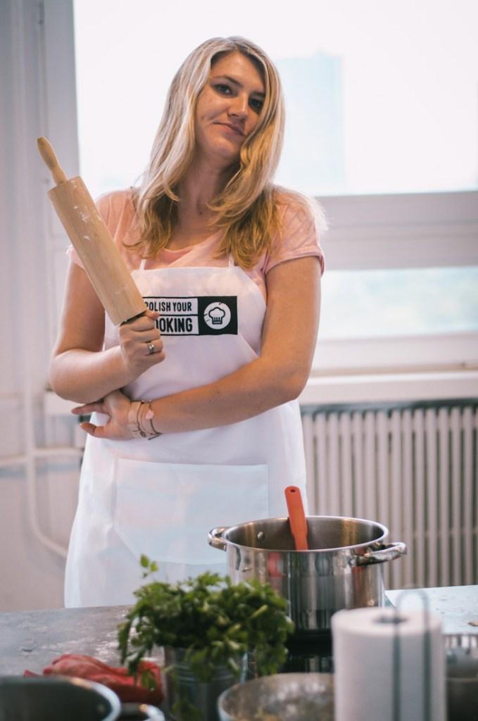 Magda gotowa do przygotowania ciasta.