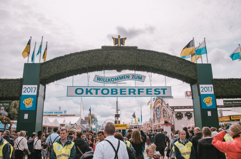 Oktoberfest welcome sign
