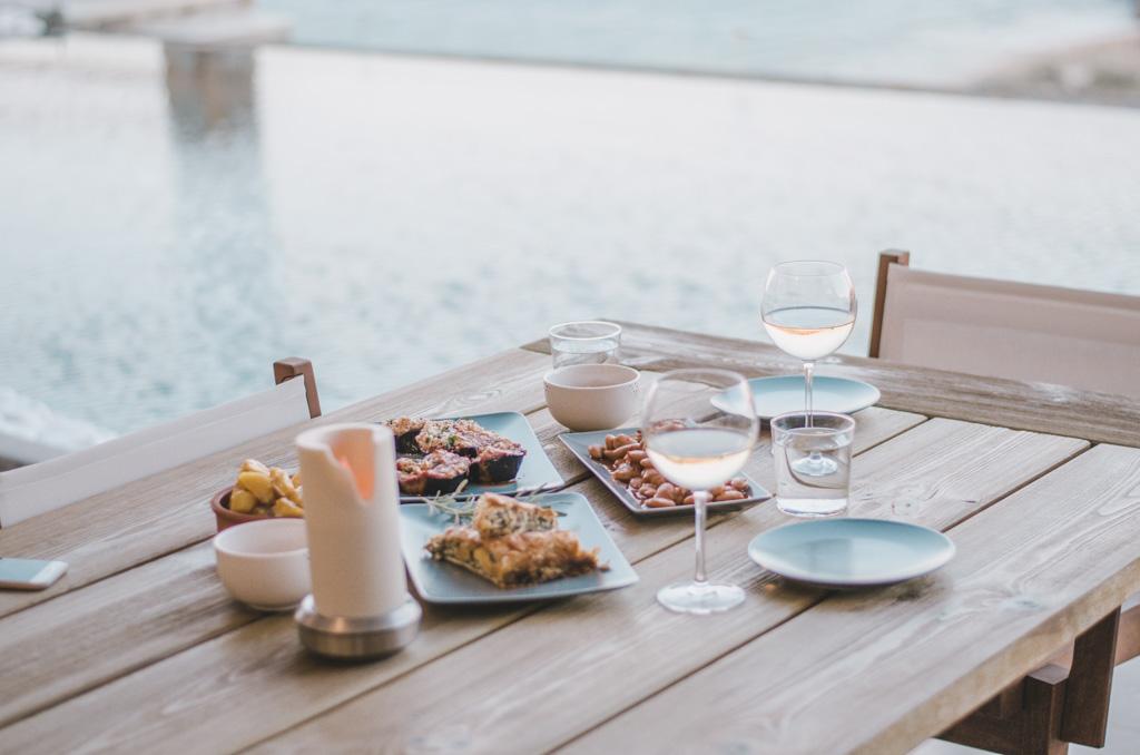 Naxos Rock Villas - kolacja
