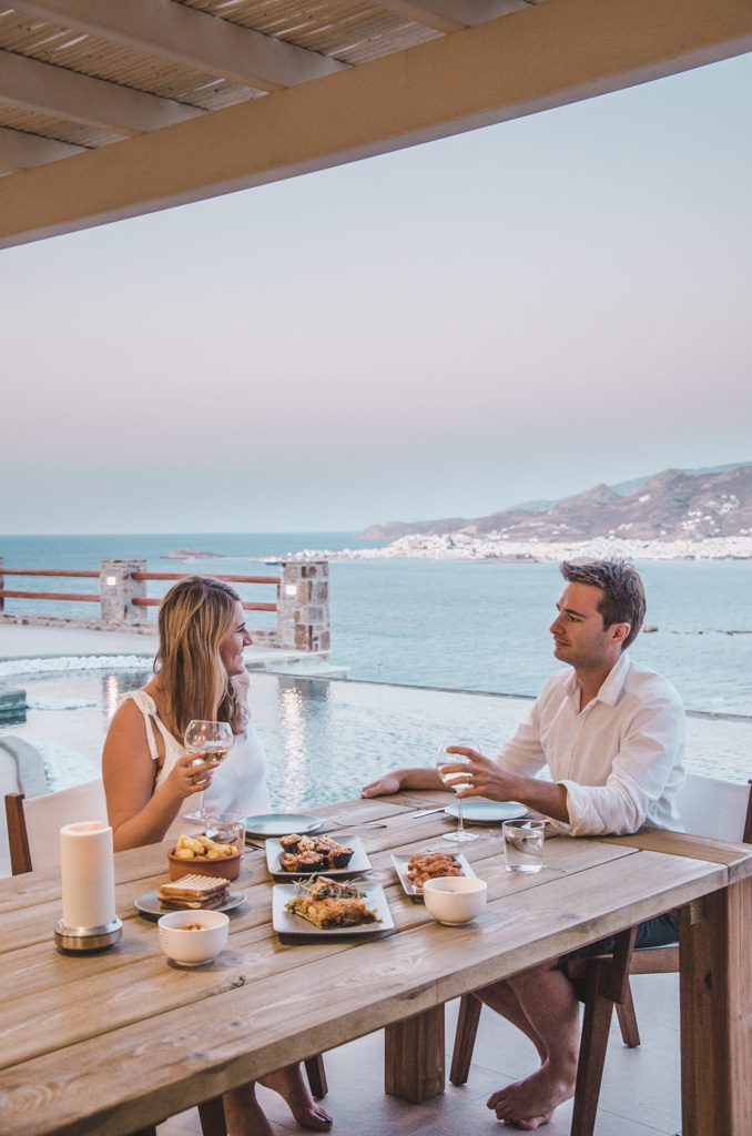 Naxos Rock Villas - dinner