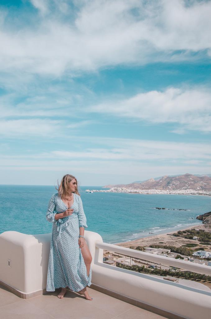 Naxos Rock Villas - widok na Naxos