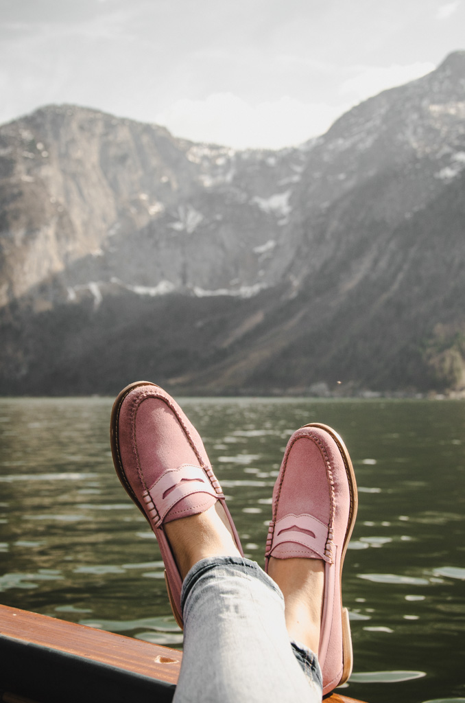 visiting hallstatt - where to stay in hallstatt - pink loafers
