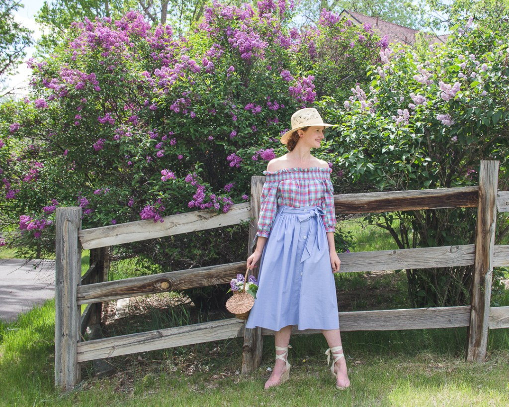 gingham and lilacs