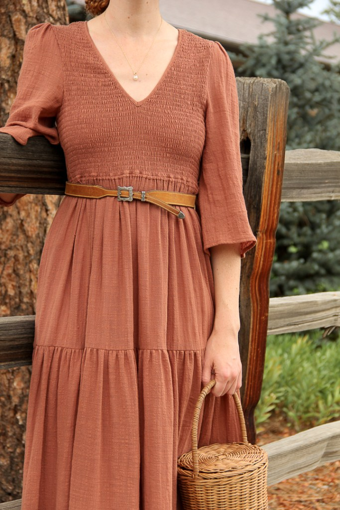Christy Dawn basil dress