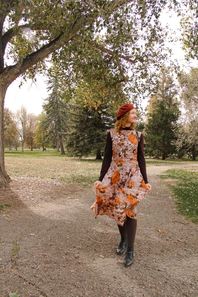floral autumn dress
