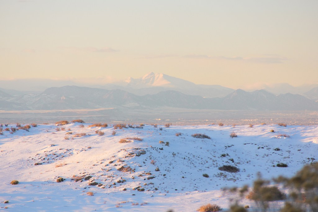 Daniels Park - winter sunset in Colorado