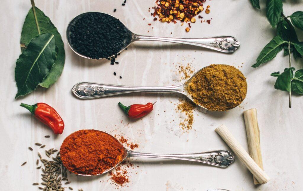 Salt, spices