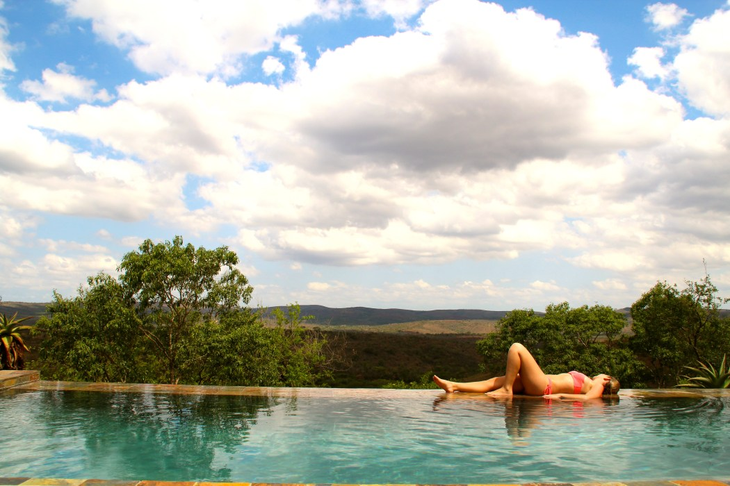 Lodge in Südafrika, Infinity Pool