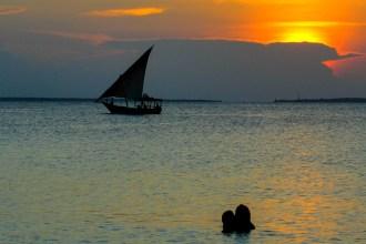 Sonnenuntergang auf Sansibar, Tansania