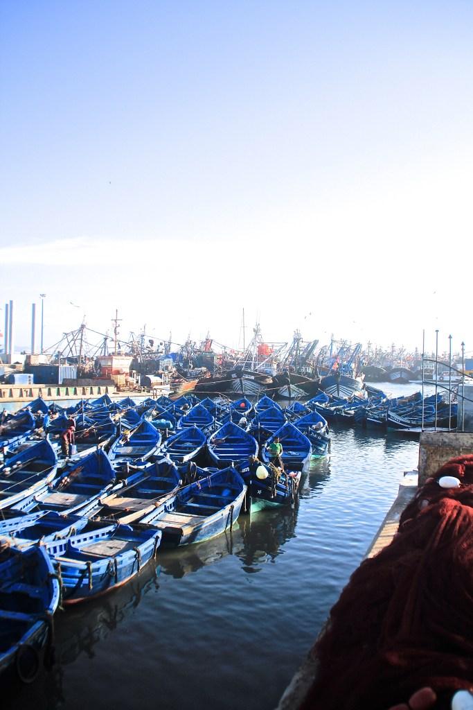 Fischerhafen in Essaouria