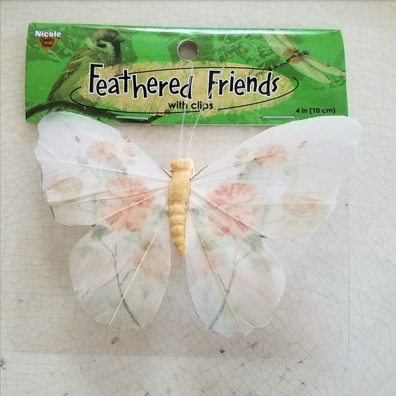 Pretty Shabby Chic butterfly to use as an accessory for floral arrangement or wreath from A.C. Moore