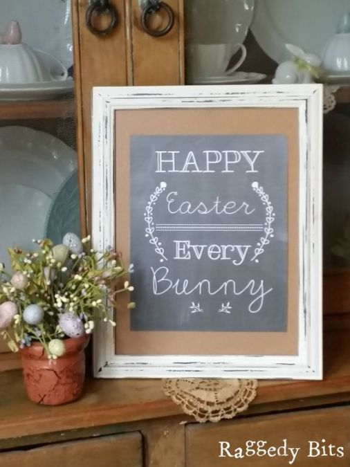Adorable Free Easter Chalkboard Printable