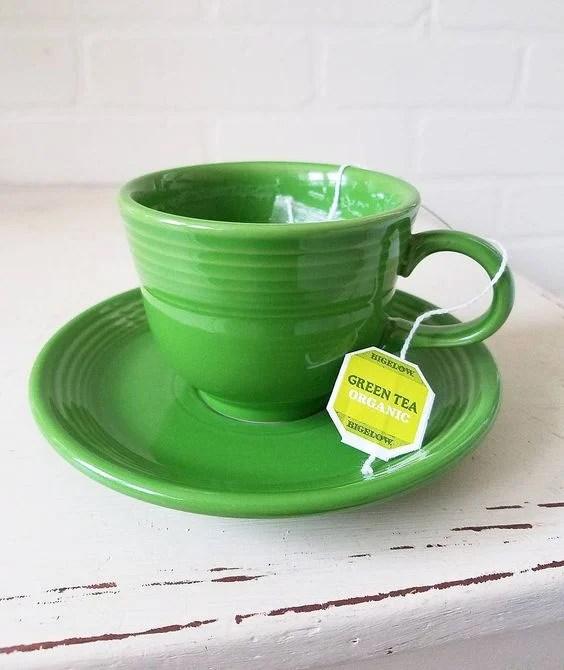 green fiestaware green tea