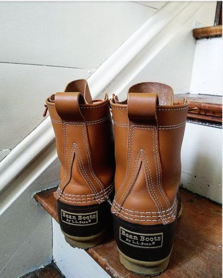 DIY faux shiplap in mudroom cute LL Bean Boots