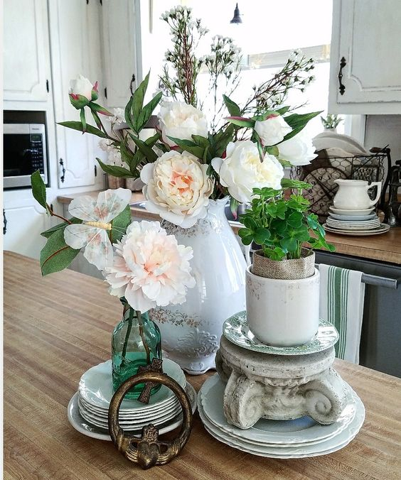 How to create stunning floral arrangements using faux flowers and decorative accessories